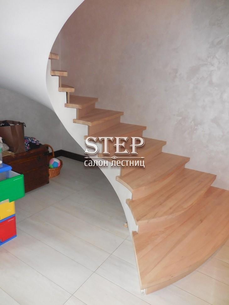 Отделать бетонную лестницу деревом своими руками 87