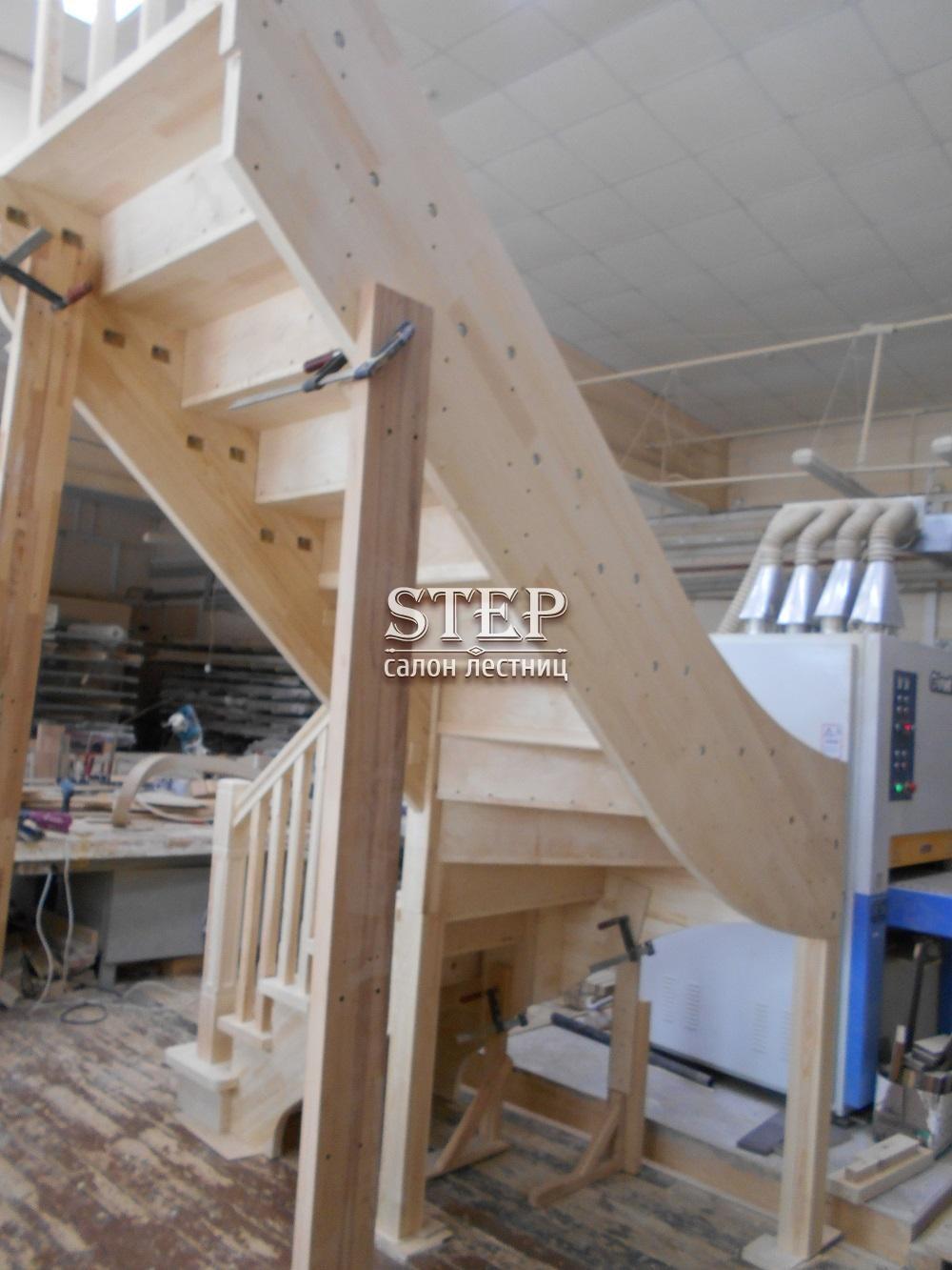 Г образные деревянные лестницы своими руками 28